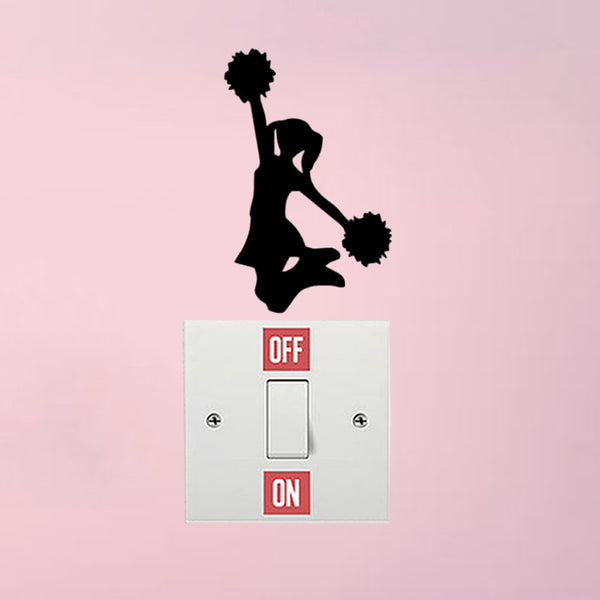 Cheerleading Bedroom Decoration Wall Sticker Switch Decal Vinyl 6SS0262