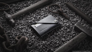 Minimalist Leather wallet, grey