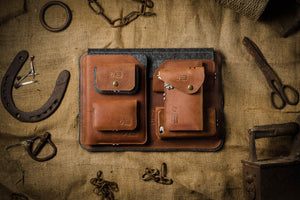 Crazy Horse leather classic brown collection