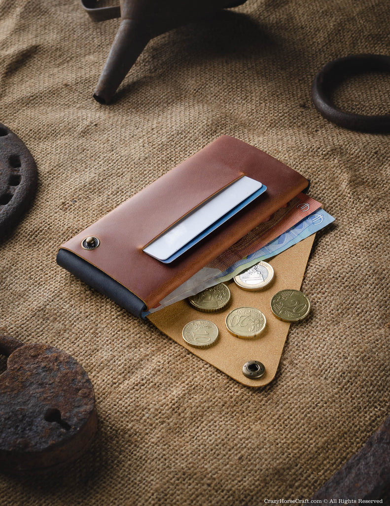 Minimalist Phone case / wallet | Classic Brown