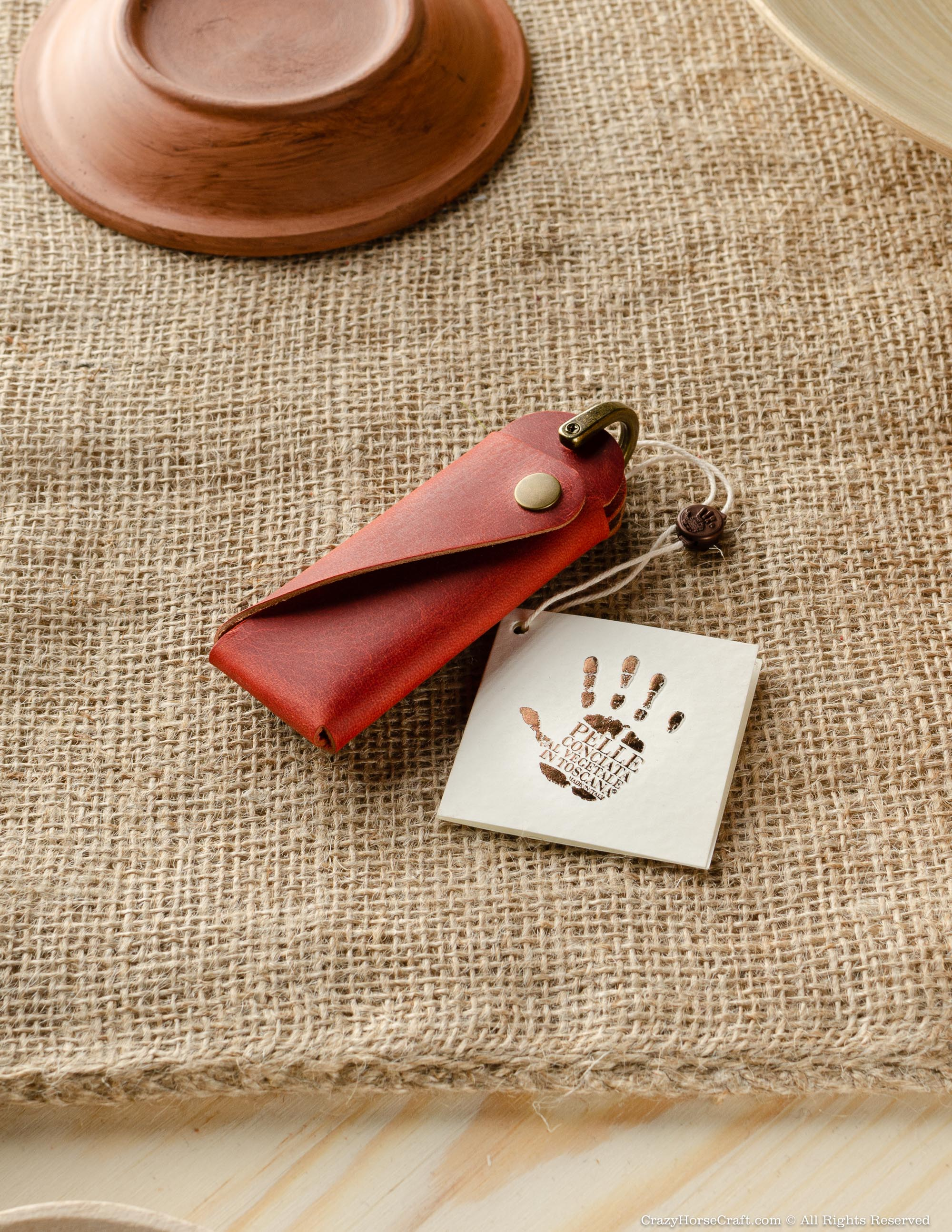 Minimalist Leather Key Organiser/Holder | Fragola Red