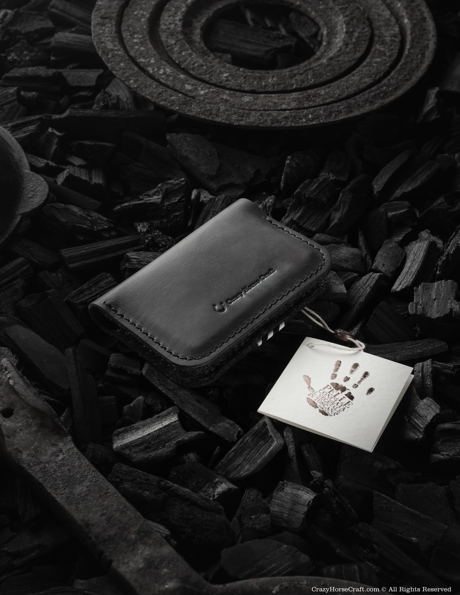 Leather Business & Credit Card Holder / Wallet | Carbon Black