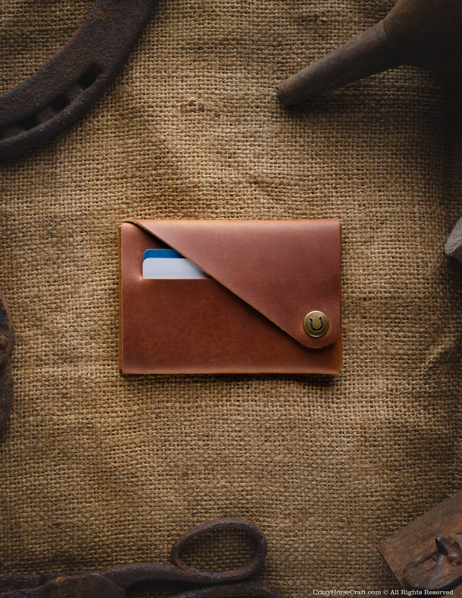 Minimalistic leather wallet/card holder | Classic Brown