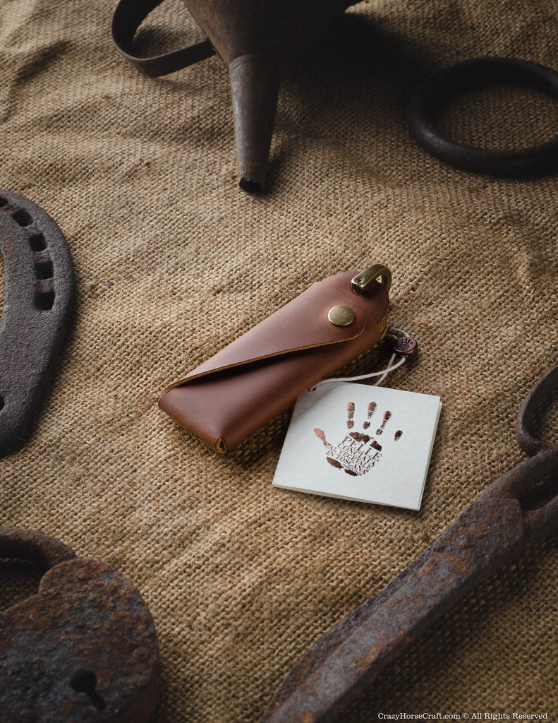 Minimalist Leather Key Organiser/Holder | Classic Brown