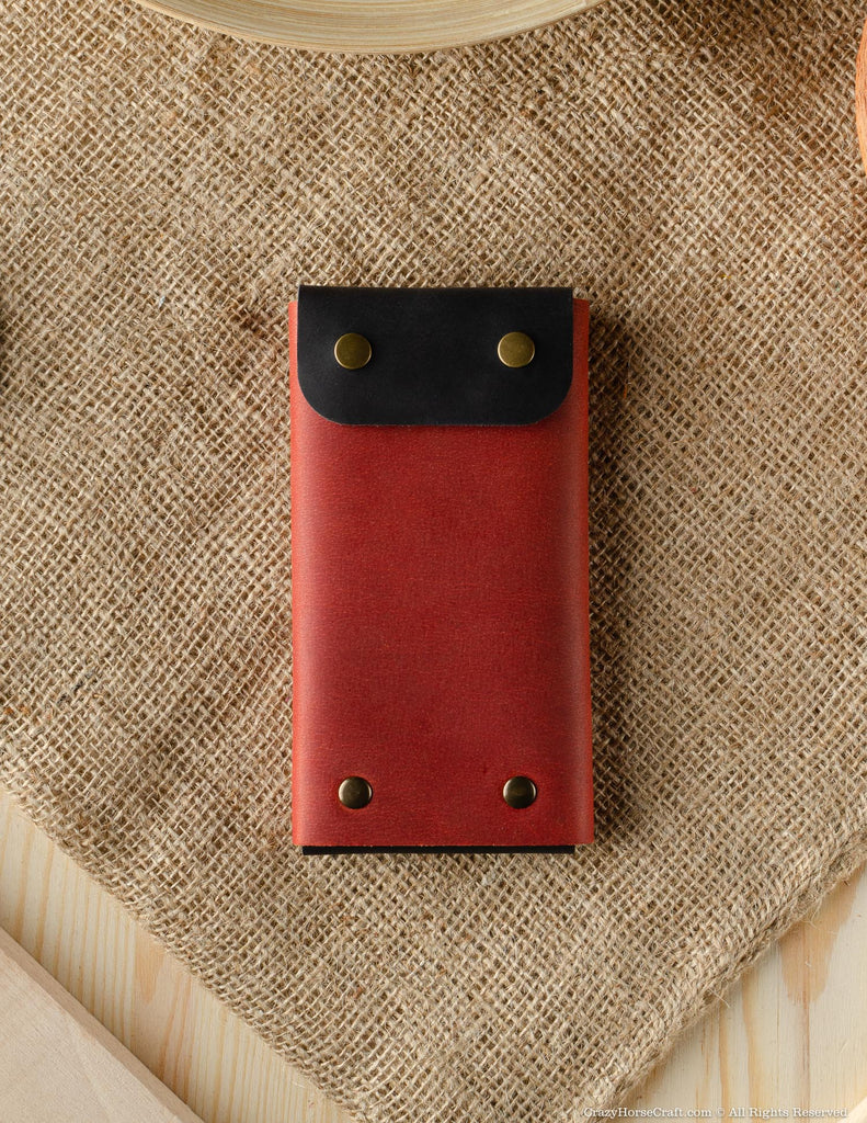Minimalist Phone case / wallet | Fragola Red