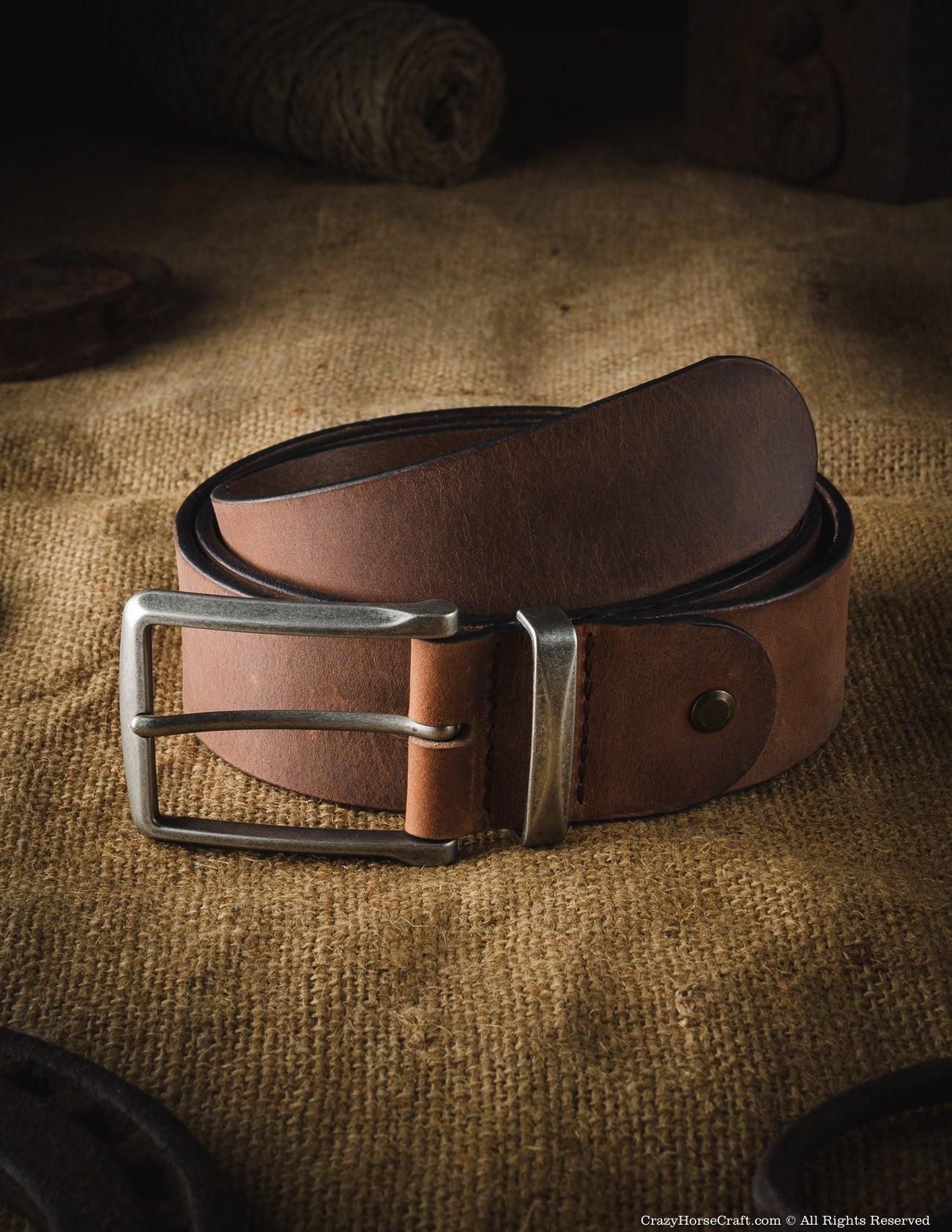 Vegetable Tanned Leather Belt | Classic Brown