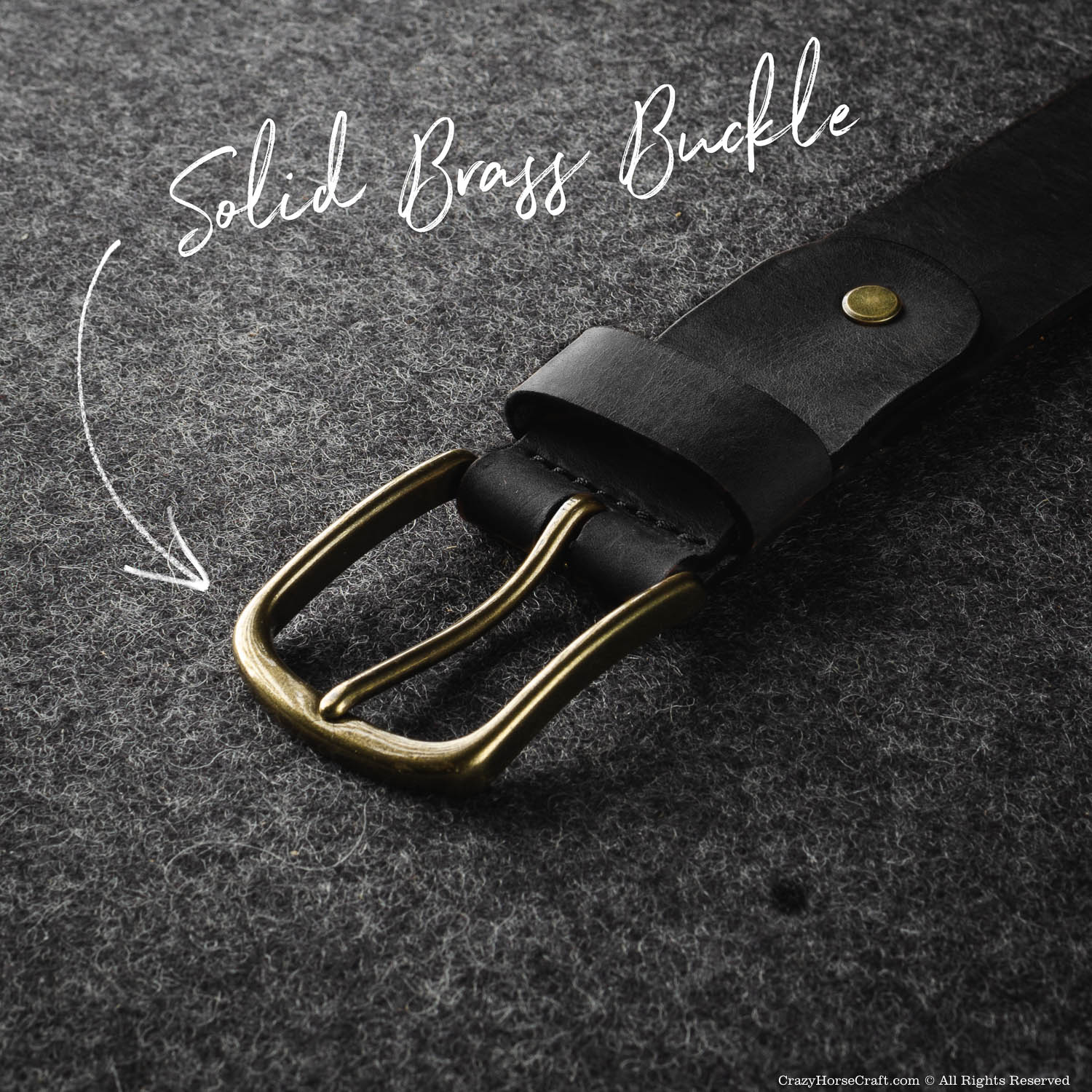 Vegetable Tanned Leather Belt | Carbon Black