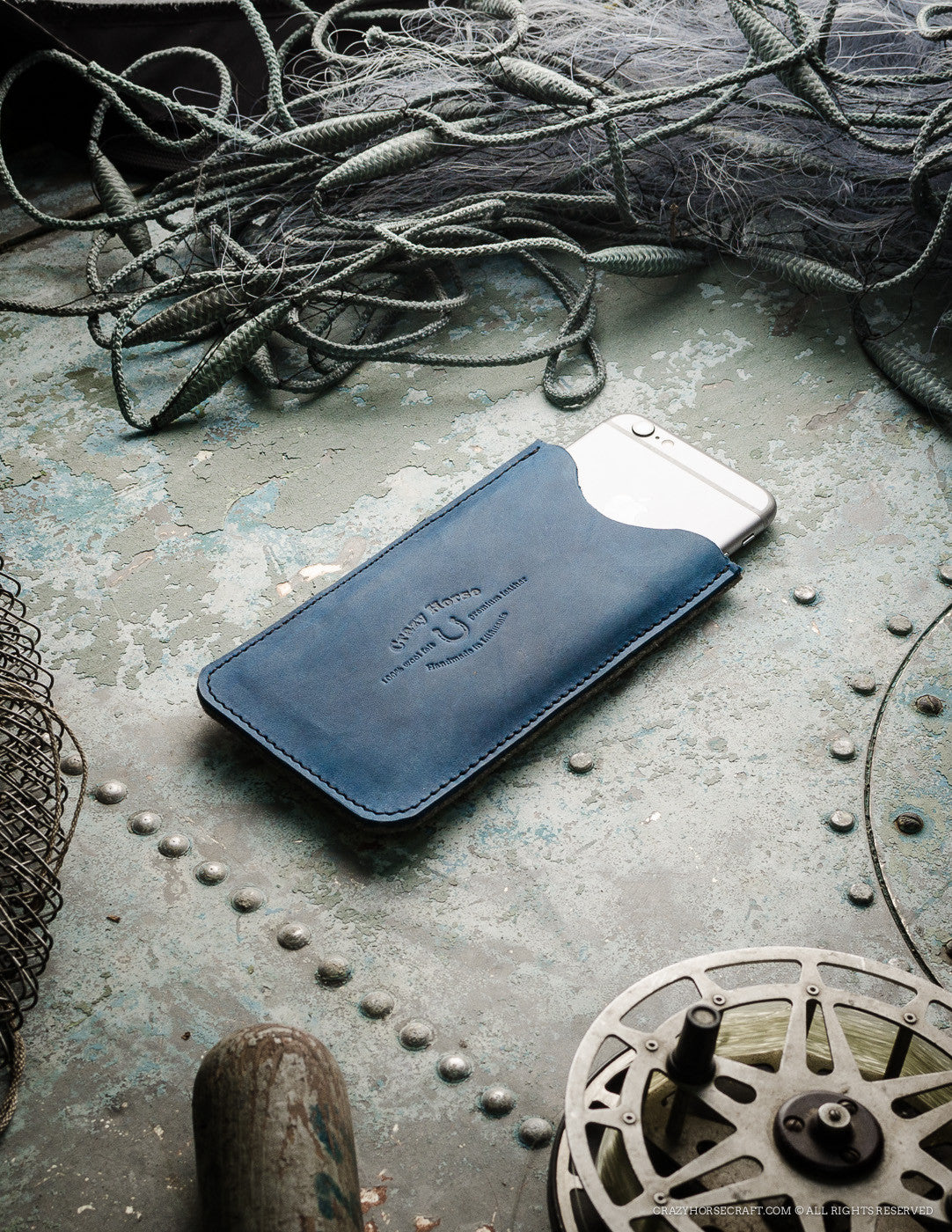 Leather iPhone Case with Card Pocket | OceanBlue