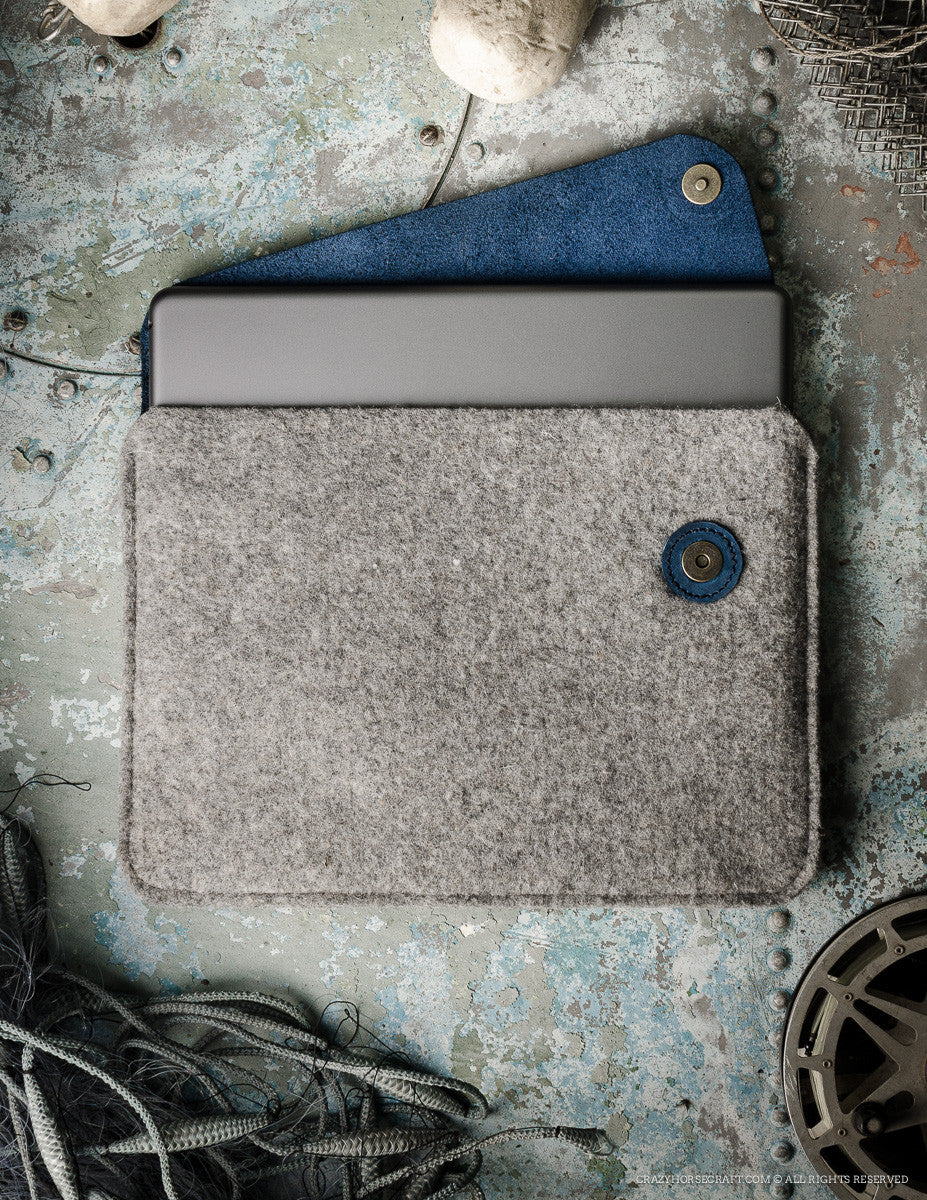 Felt MacBook/iPad case | OceanBlue
