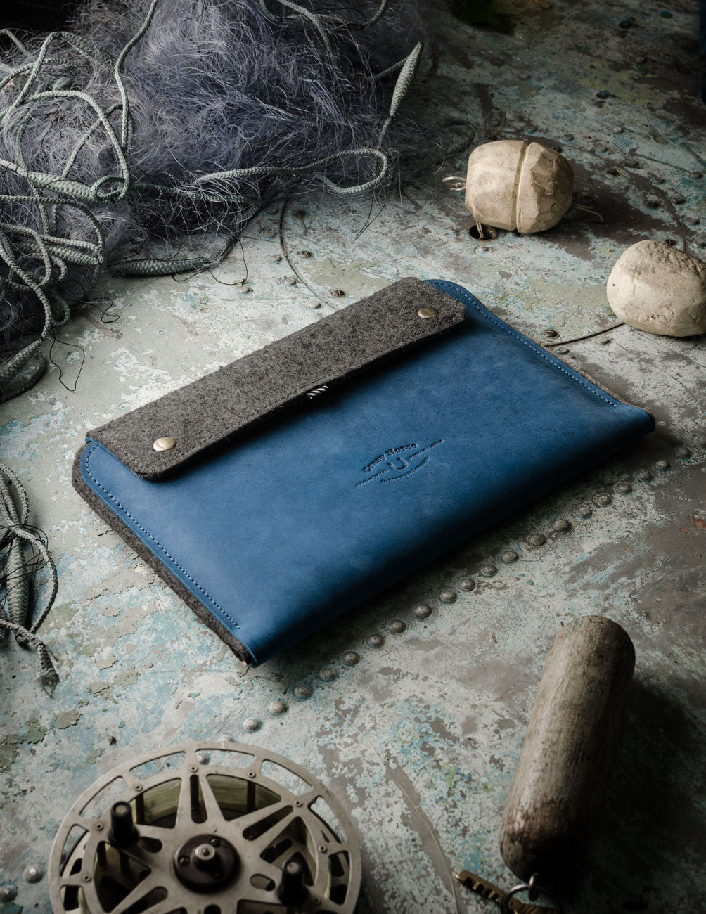 Leather MacBook Case | OceanBlue