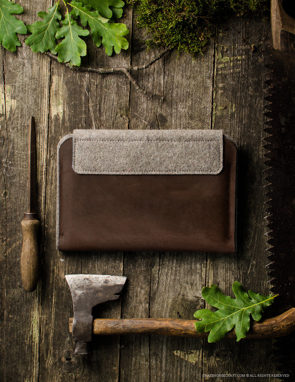 Leather MacBook Case | Wood Brown