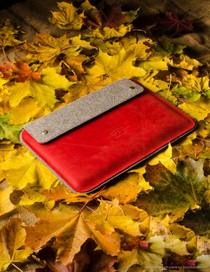 Leather MacBook/iPad Case | AutumnRed