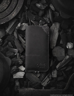 Leather iPhone Xs case, iPhone Xs Max sleeve, leather phone cover, iphone sleeve, wool felt, black phone case