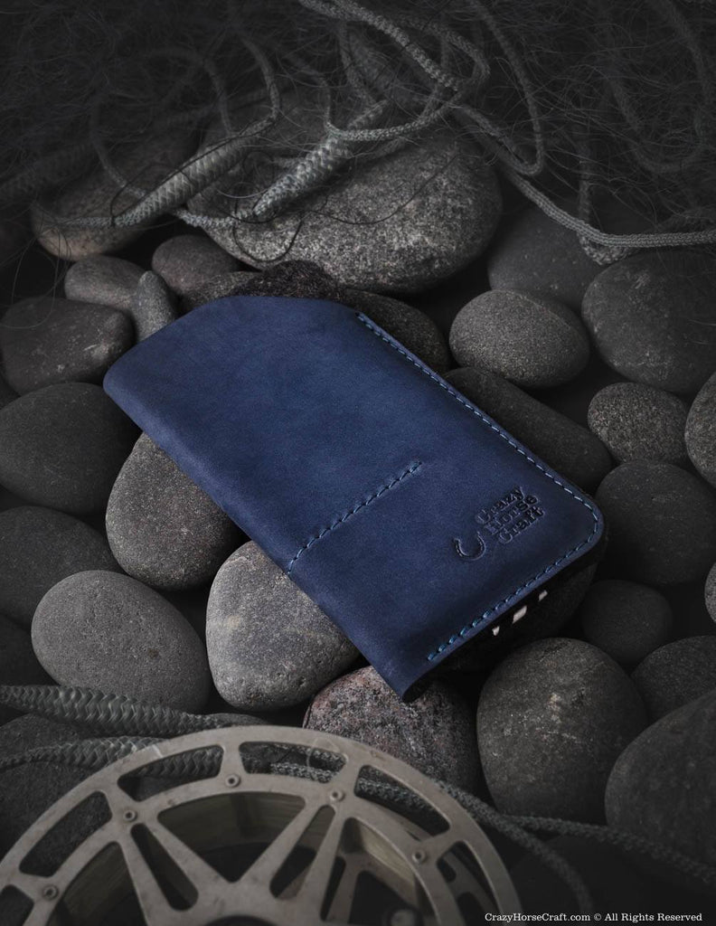 iPhone Xs case, iPhone Xs Max leather sleeve, iPhone Xr case, new 2018 iphone, Leather samsung galaxy S9 sleeve, blue, felt inside, with card pockets