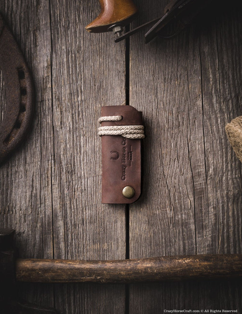 Leather key organiser, holder, brown front