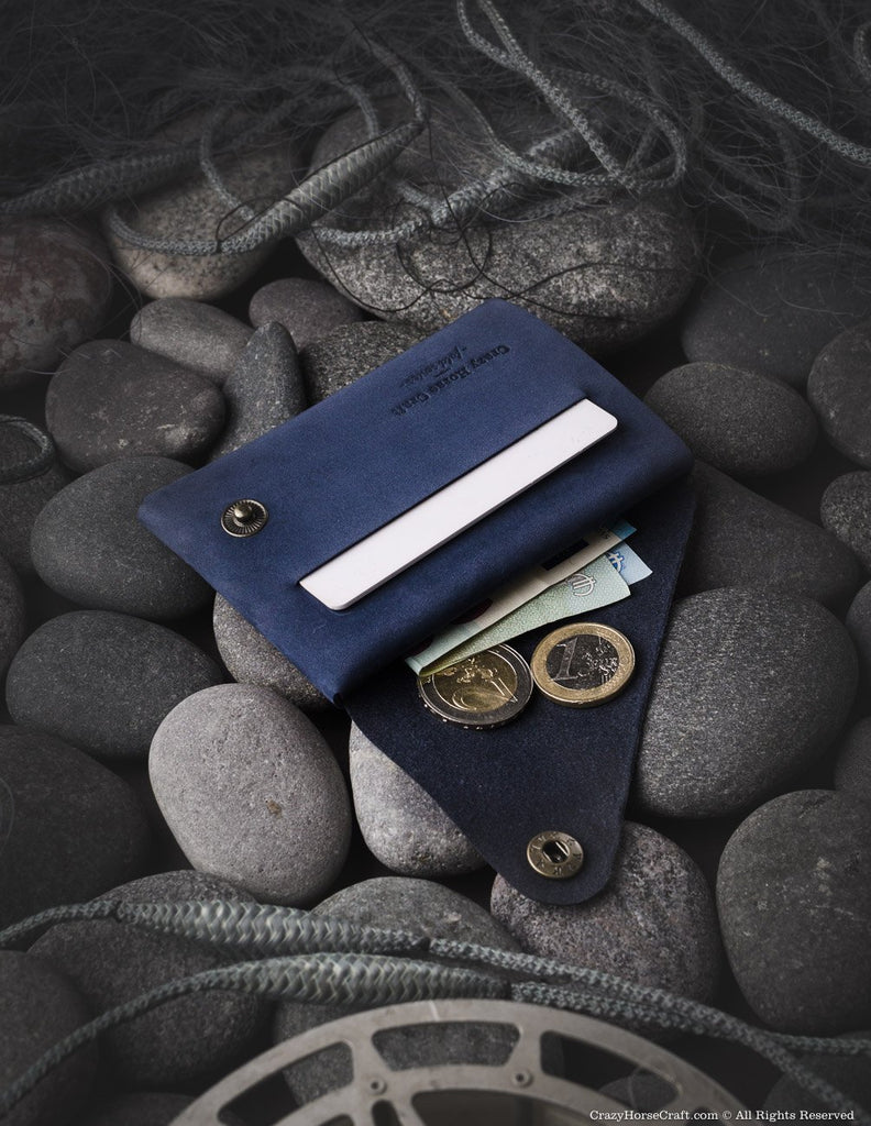 Nubuck leather wallet/card holder