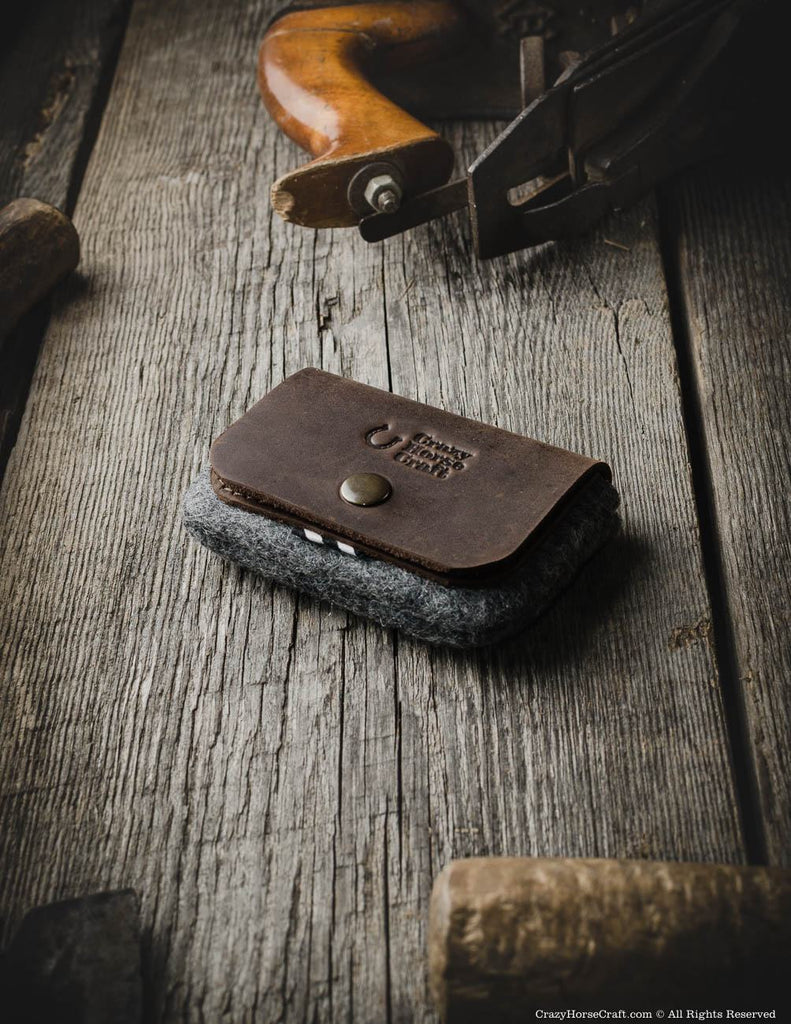Leather capacious credit card holder