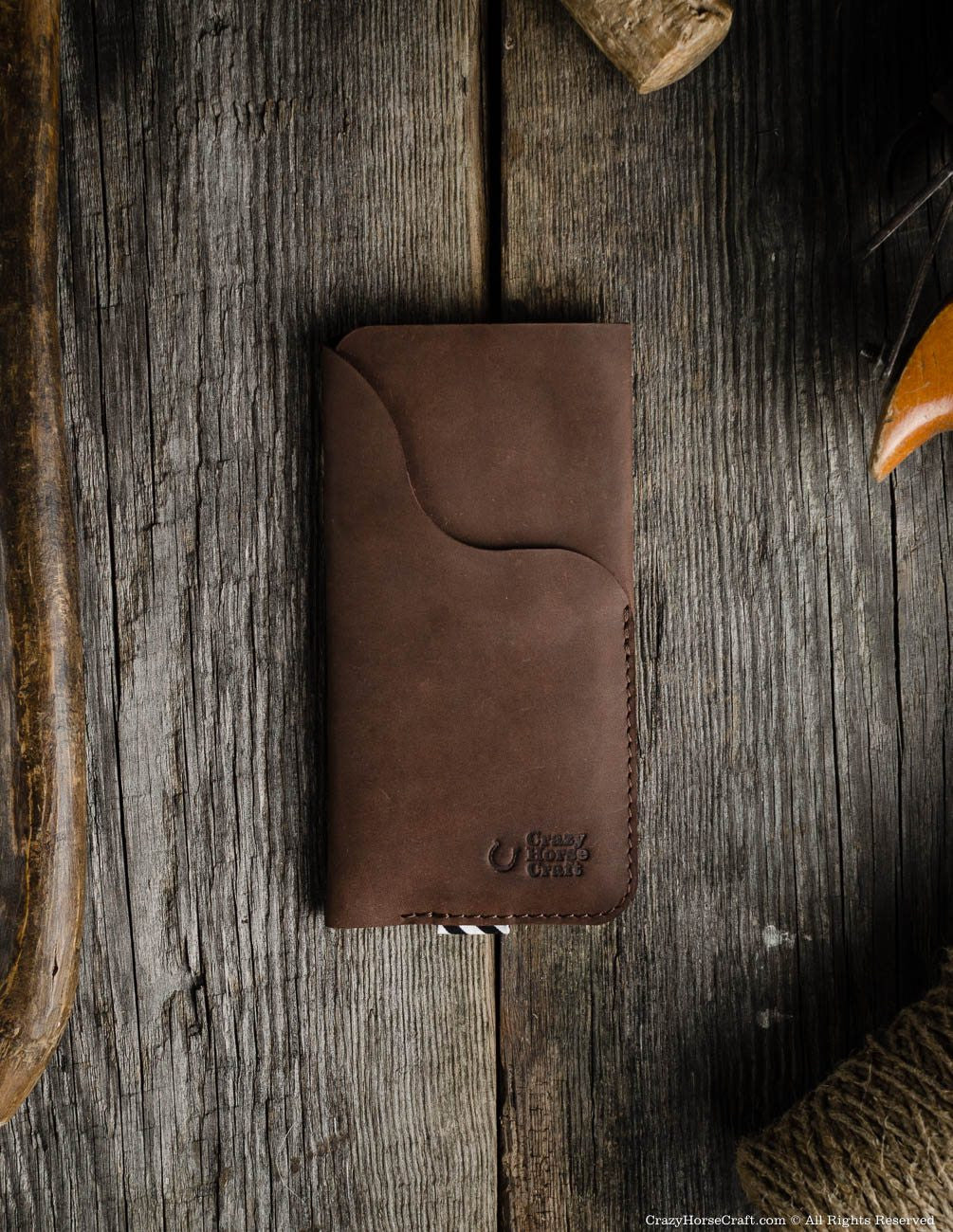 Leather iPhone X Case with Card Pocket