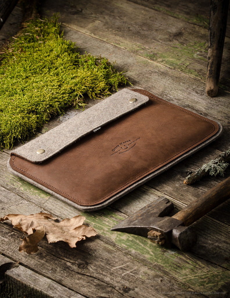 Leather MacBook 12 Case | Wood Brown