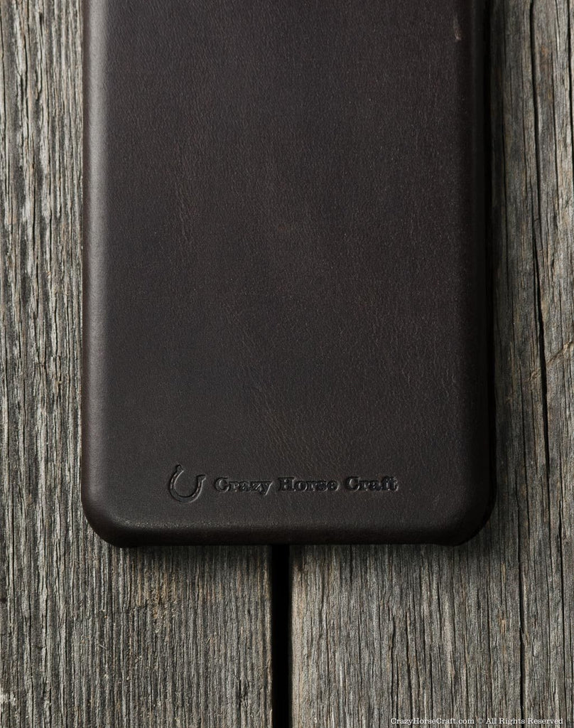 iPhone 8 plus leather case brown distressed details