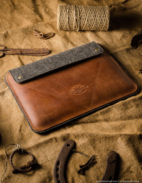Leather Ipad Pro Air Case And Stand Classic Brown