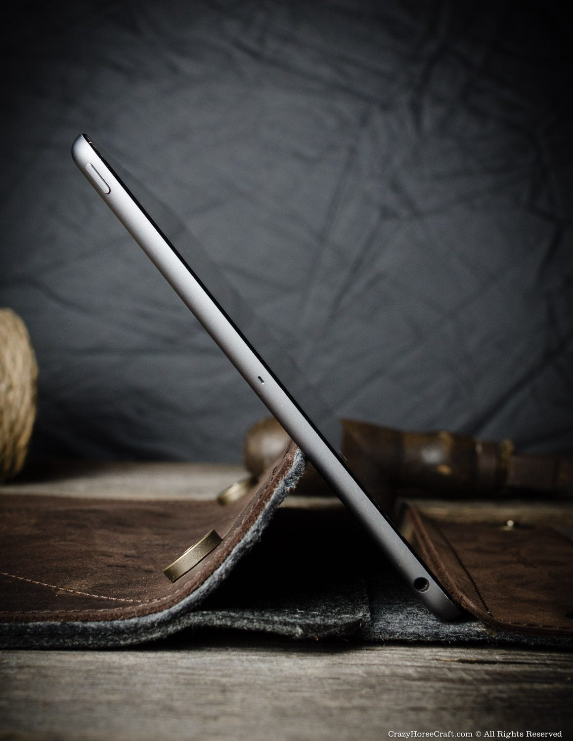 Leather iPad Pro Air Stand Case Brown