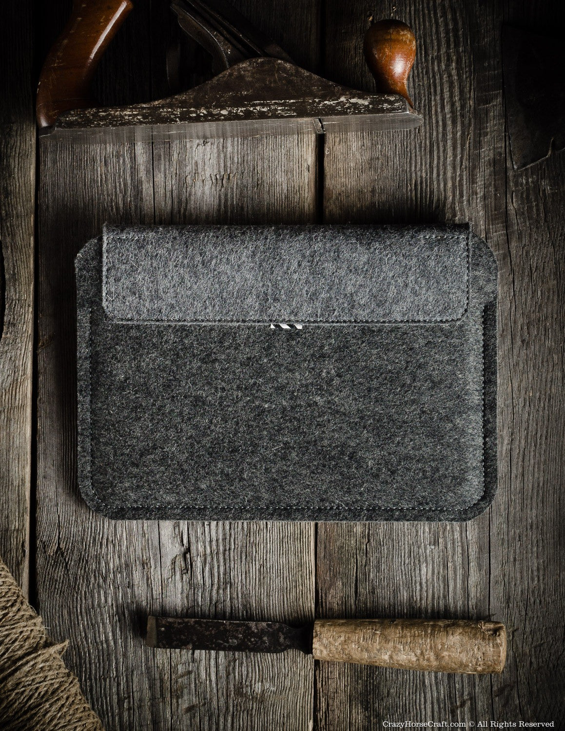Wool felt iPad case back