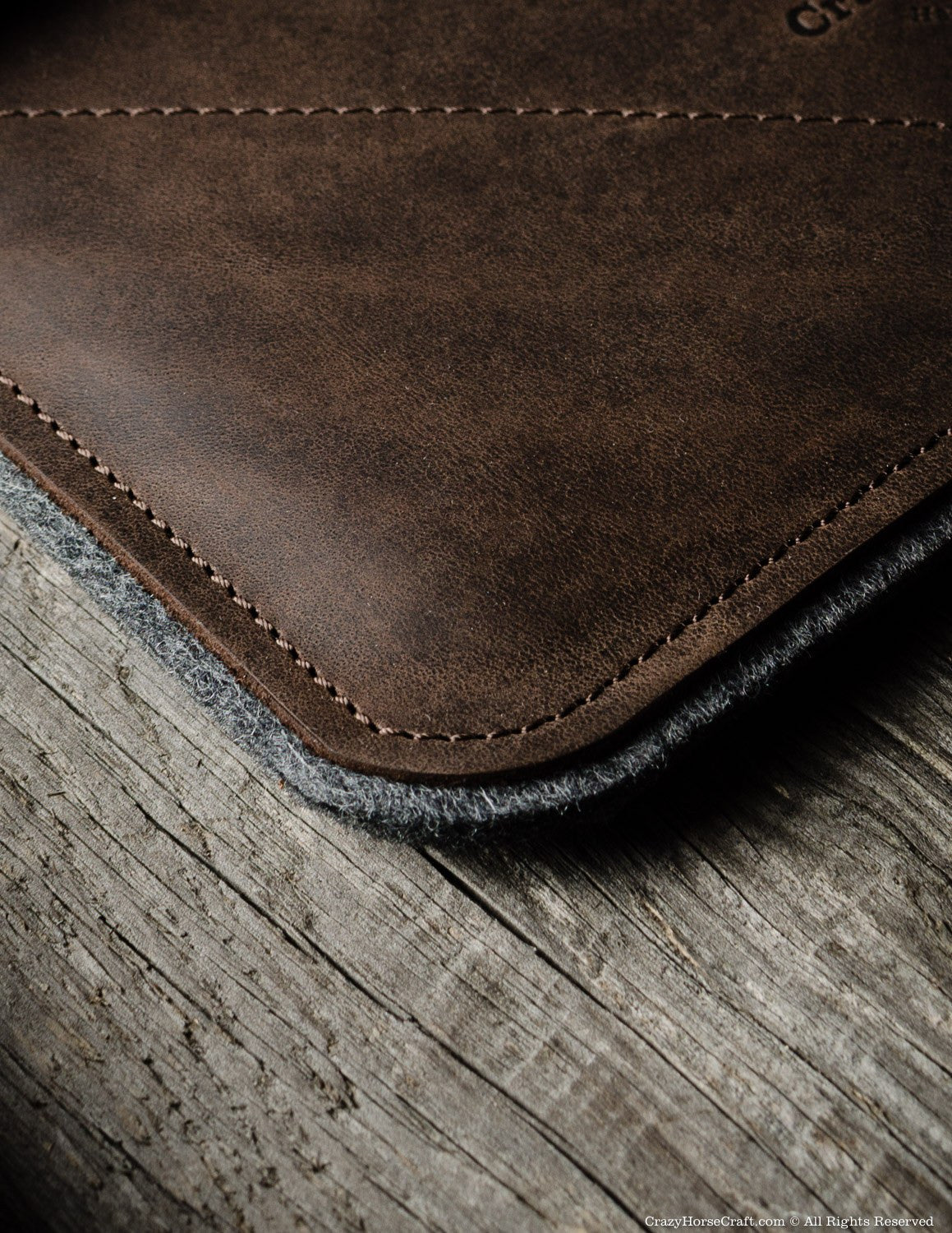 Leather iPad Case details front