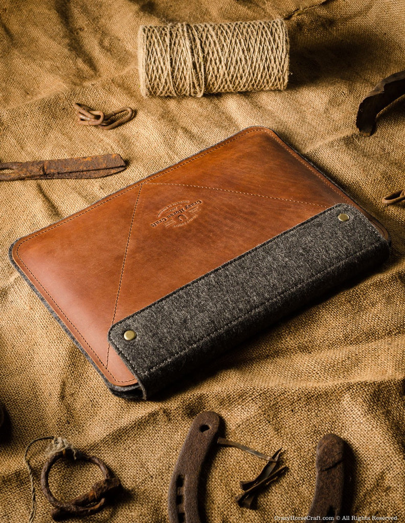 leather ipad pro case with apple pen holder side
