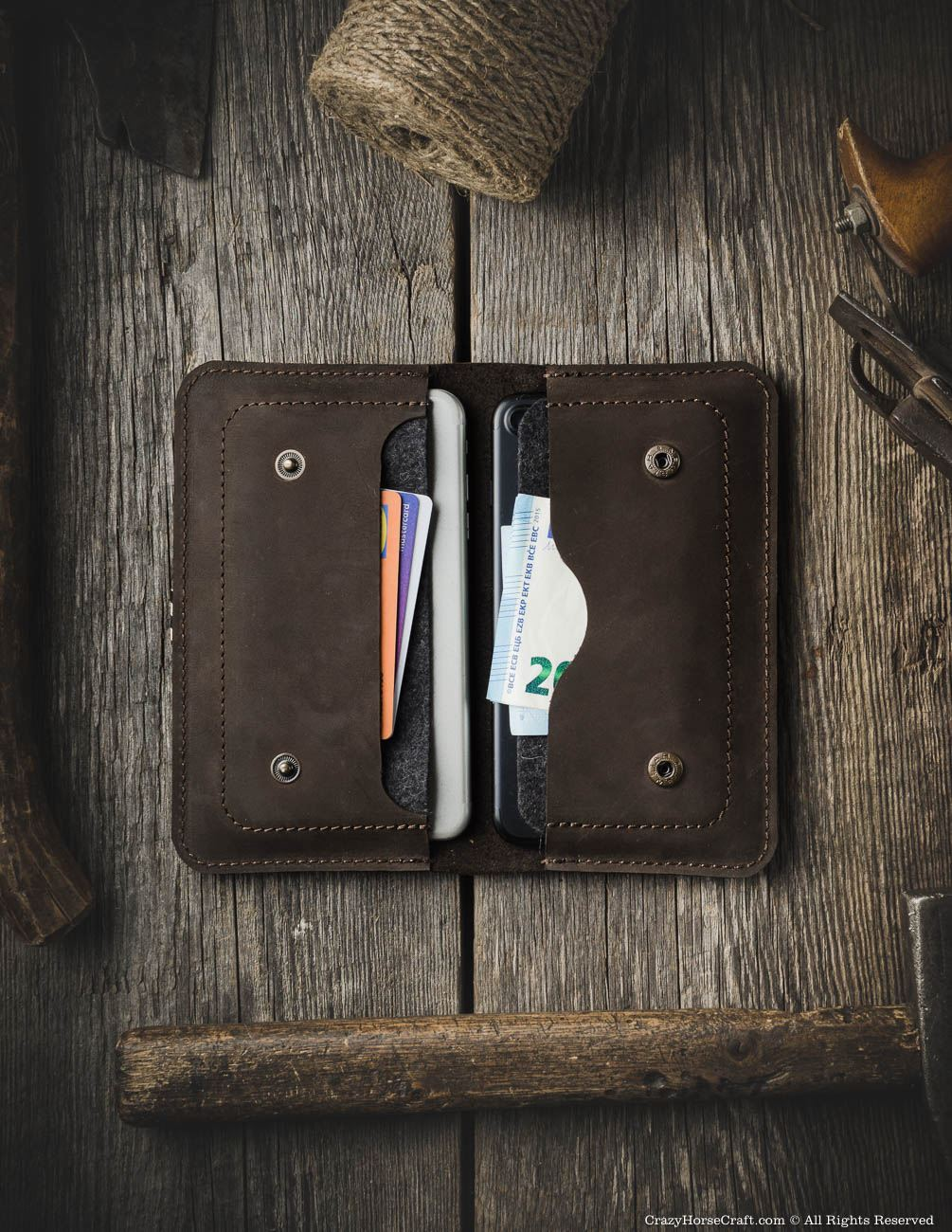 iPhone Xs, iPhone Xs Max case, two iphones wallet, big vintage wallet, old wallet, handmade iPhone Xs case, Leather iphone 8 wallet card holder cash, brown inside