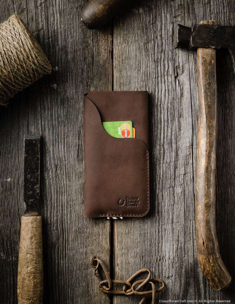 Leather iPhone 8 Case with Card Pocket front