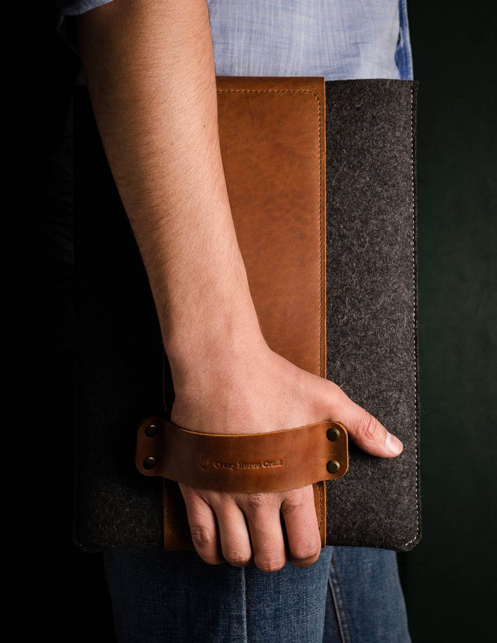 leather macbook pro 2018 sleeve case with hadle