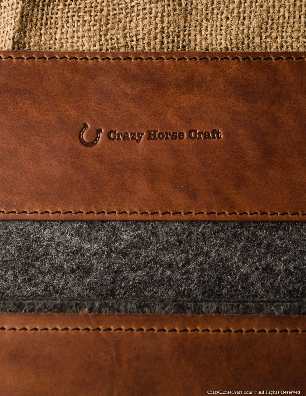 Crazy Horse Leather macbook case sleeve brown cover