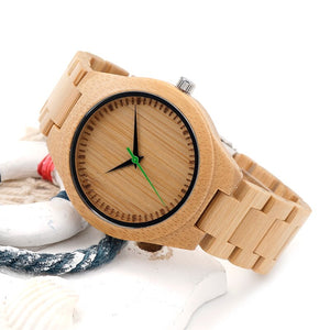 BOBO BIRD Men Wooden Bamboo Watches Luxury Men's Top Brand Designer Quartz Watch With Japanese Movement Bamboo Strap in Gift Box