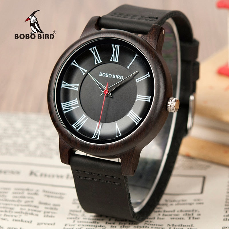 BOBO BIRD Ebony Wood Watch