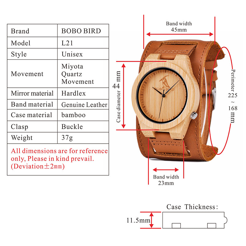 BOBO BIRD Rock band Bamboo watch - Stoak'd Cayman