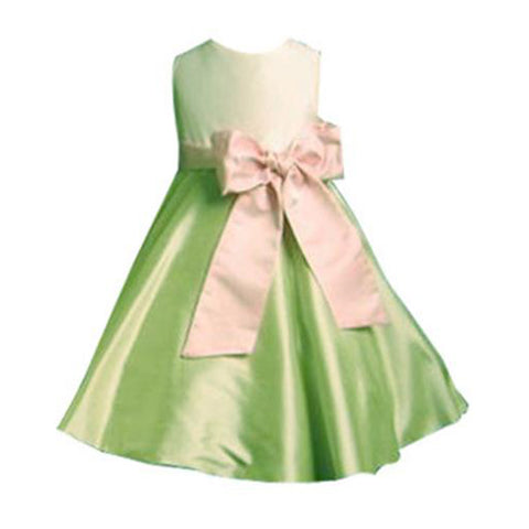 Lime Tea Length Party Dress