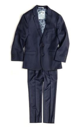 Boys Mod 2 Piece Suit Navy Blue