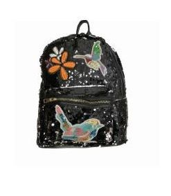 Sequin Backpack Black
