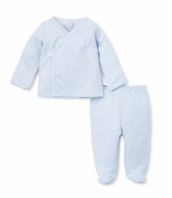 Footed Pant Set Light Blue