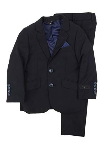 Boys Slim Fit Suit Navy