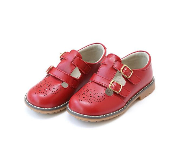 Double Buckle Mary Jane Red