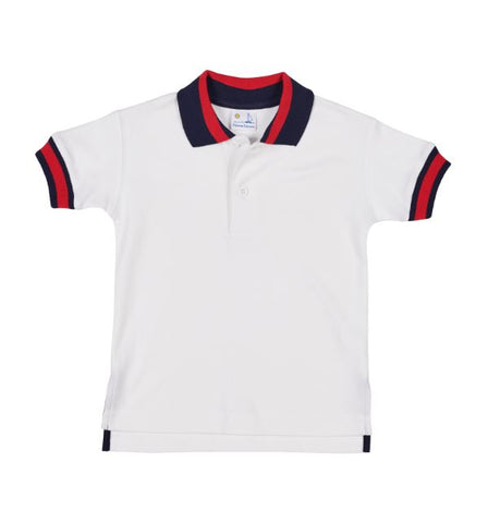 Navy and Red Tipped Polo