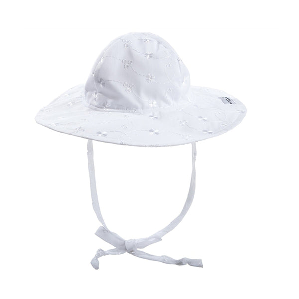 Floppy Hat White Eyelet