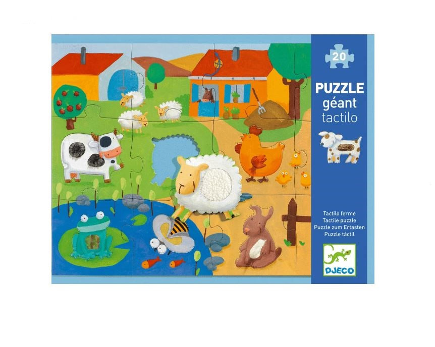 Tactile Floor Puzzle 12pc 3+