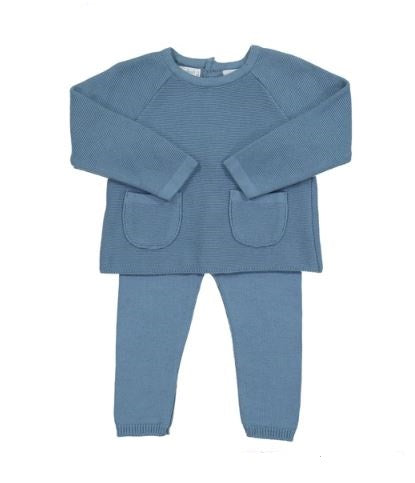 Pocket Knit Set Blue