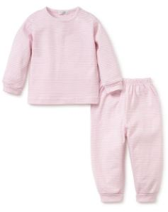 Long Sleeve Pant Stripe Set Pink