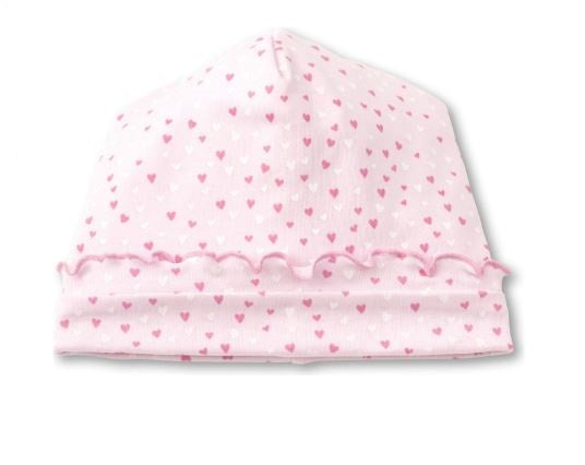 Hearts Hat White and Pink