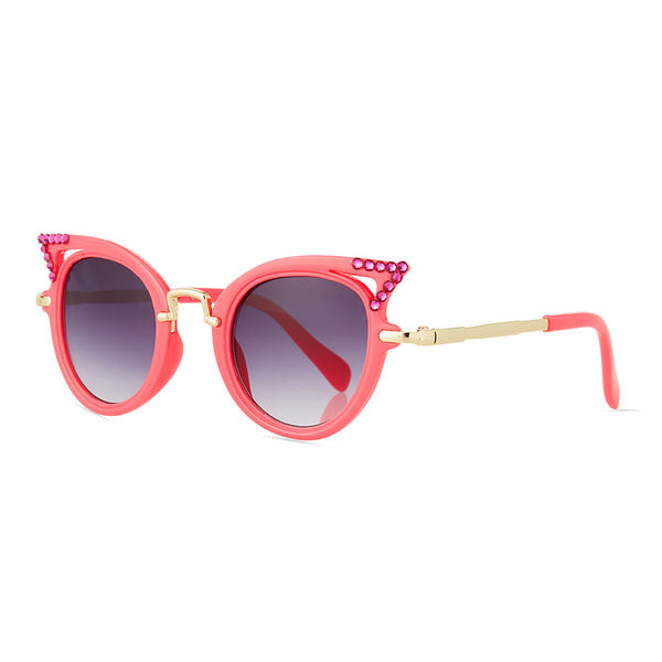 Girl's Cat-Eye Crystal Sunglasses