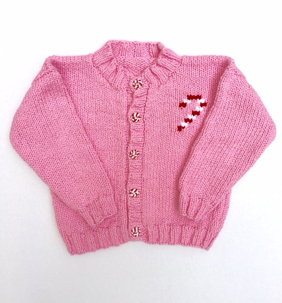Pink Candy Cane Cardigan